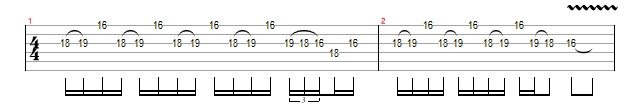 Blues Lick July 2017 Repeating Lick in Bm